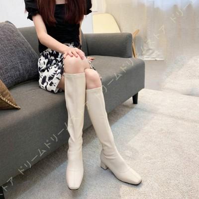ブーツ レディース ロング ブーツ エンジニアブーツ 大きいサイズ 歩きやすい 太ヒール カジュアル 防寒 防滑 防水 長ブーツ ファッション ロングブーツ