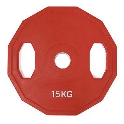 TPOWER 奧林匹克標準槓片15KG《環保無味》包膠大孔徑設計-單片入