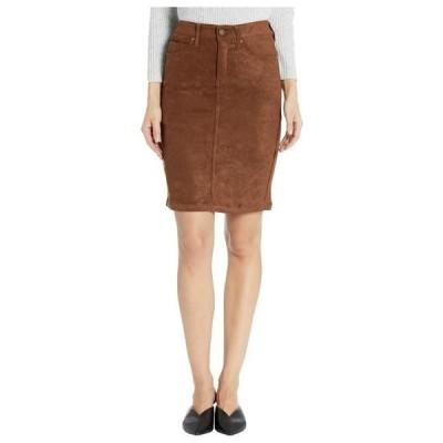 リバプール レディース スカート  Pencil Skirt in a Stretch Faux Suede