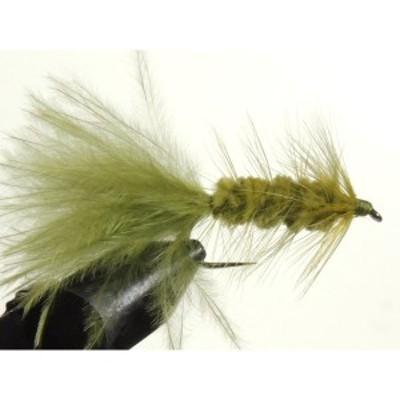 ストリーマー バーブレス (BL) ストリーマー ウーリーバガー オリーブ (#8 #10) 完成品フライ フライ フィッシング 毛鉤 釣り  ヤマメ イ