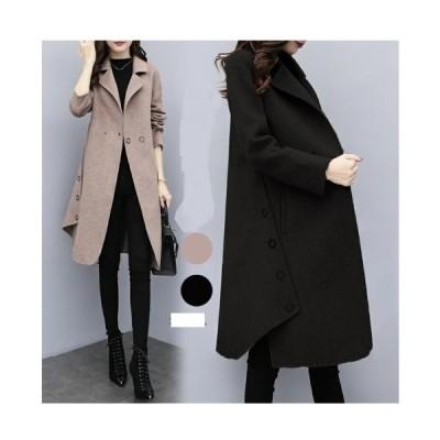 上質色合い 風合い ツイード素材 ロングコート コート レディース ツイードコート トレンチコート  送料無料