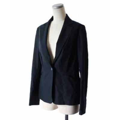 【中古】ロートレアモン LAUTREAMONT セットアップ 上下 スーツ ジャケット テーラード スカート 台形 ひざ丈 36 38 紺