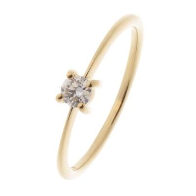 COCOSHNIK(ココシュニック) K18ダイヤモンド 4本爪 リング(大)