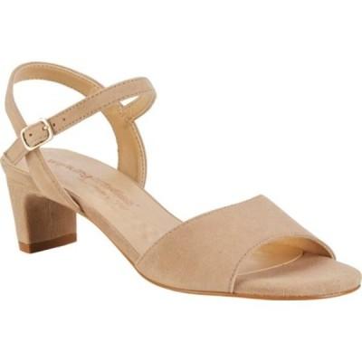 ウォーキング クレイドル サンダル シューズ レディース Lydia Ankle Strap Heeled Sandal (Women's) Taupe Suede