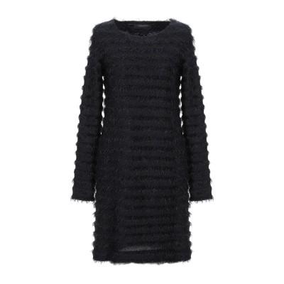 メッサジェリエ MESSAGERIE ミニワンピース&ドレス ブラック 42 コットン 58% / ナイロン 23% / アクリル 19% ミニワン