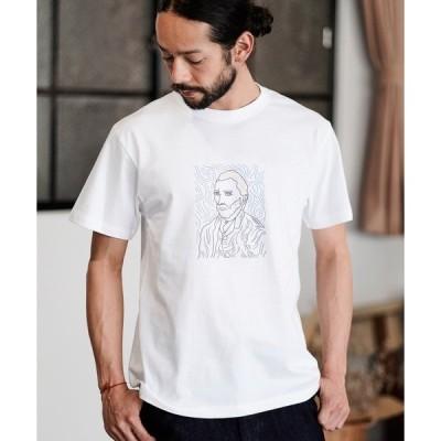 tシャツ Tシャツ mt7113- プリントT_ゴッホ(自画像) Tシャツ