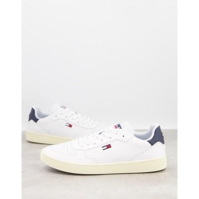 トミーヒルフィガー メンズ スニーカー シューズ Tommy Jeans essential sneakers in white White