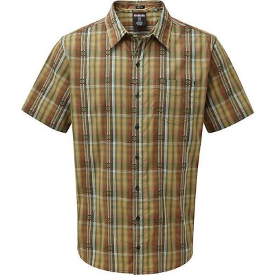シャーパ シャツ メンズ トップス Sherpa Men's Seti SS Shirt Mewa Green