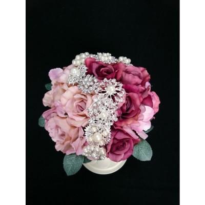 アトリエローズ アンティークブローチブーケ 可愛い ウェディング 結婚式 2次会 ブライダル 花嫁 海外 挙式 人前式 神前式 フラワー 花