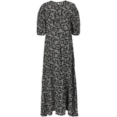 FREE PEOPLE 7分丈ワンピース・ドレス ブラック 0 レーヨン 100% 7分丈ワンピース・ドレス