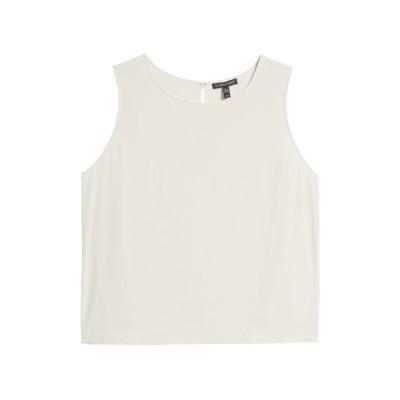 エイリーンフィッシャー レディース カットソー トップス Silk Shell Sleeveless Blouse BONE