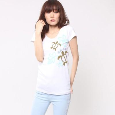 【Kahiko】アロハホヌフラTシャツ M ホワイト