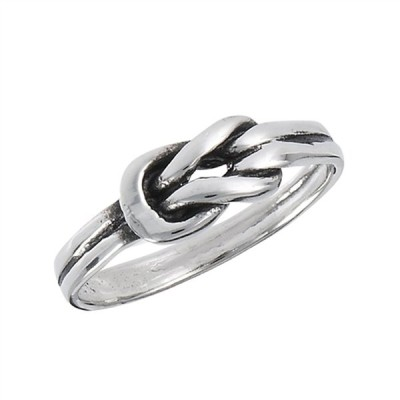 Oxidized Knot Loop Belt Buckle Ring New .925 Sterling Silver Band Size