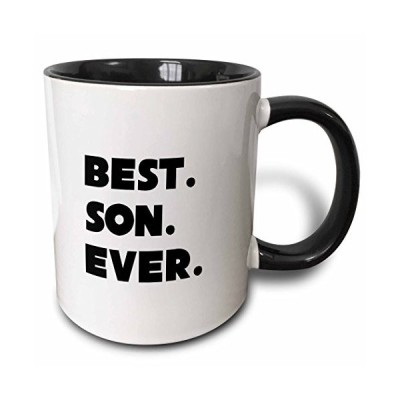 3dRose Best Son Ever Two Tone Mug, 11 oz, Black【並行輸入品】