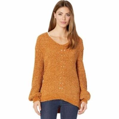 ラングラー Wrangler レディース ニット・セーター トップス Long Sleeve Chenille Sweater Orange