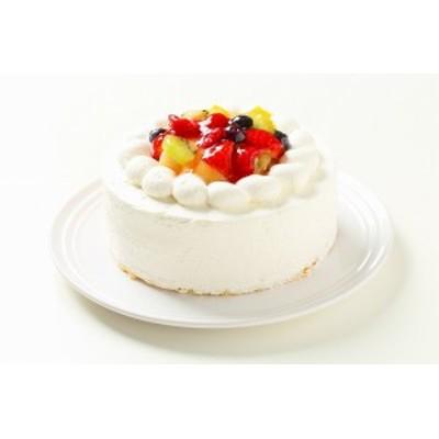 フルーツデコレーションケーキ5号【送料無料】直径約15cmの4人分サイズのデコレーションケーキ