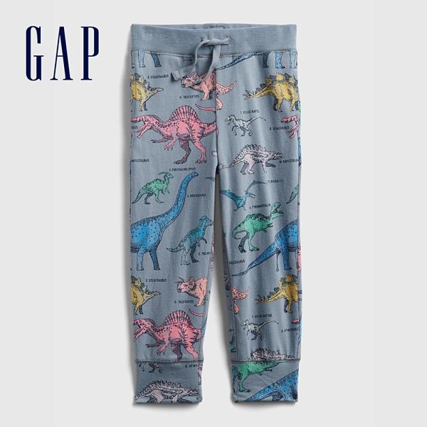 Gap男幼童 布萊納系列 口袋印花鬆緊休閒褲 442430-恐龍印花