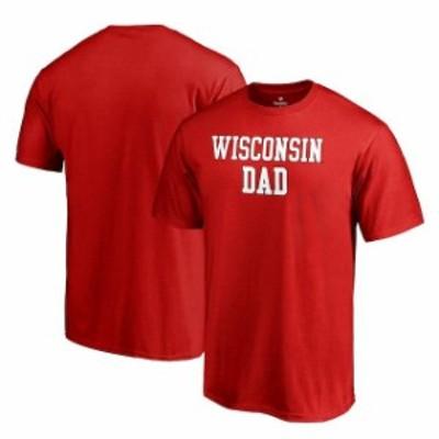 Fanatics Branded ファナティクス ブランド スポーツ用品  Fanatics Branded Wisconsin Badgers Red Team Dad Crewneck T-Shirt