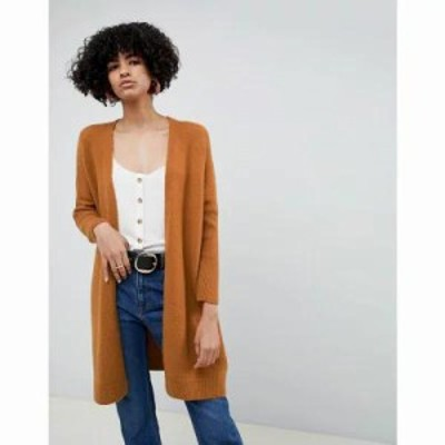 エイソス カーディガン eco oversize cardigan in fluffy yarn Camel