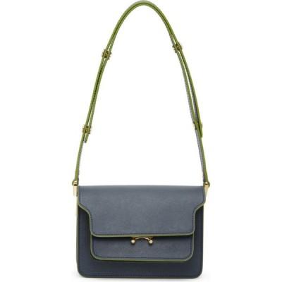 マルニ Marni レディース バッグ Blue Mini Saffiano Trunk Bag Blue