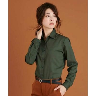 シャツ ブラウス 形態安定ノーアイロン レギュラー衿 長袖ビジネスワイシャツ