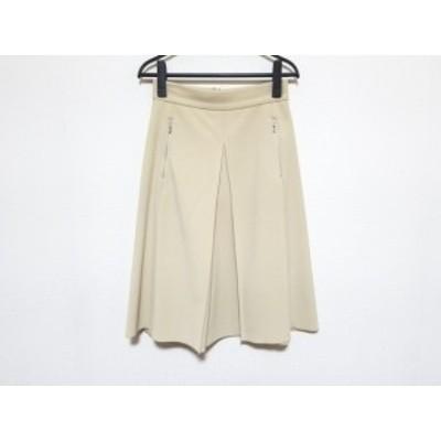 フォクシーニューヨーク FOXEY NEW YORK スカート サイズ40 M レディース 美品 アイボリー【中古】20200529