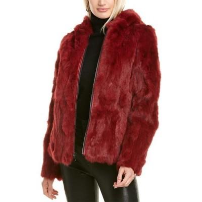 アドリエンランドー ジャケット&ブルゾン アウター レディース Adrienne Landau Reversible Hooded Jacket berry