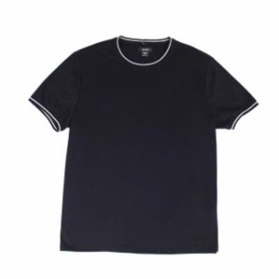 Alfani  ファッション トップス Alfani Mens T-Shirt Deep Black Size Small S Ringer Crewneck Stretch Tee #188