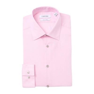 カルバンクライン メンズ シャツ トップス Stretch Slim Fit Dress Shirt PETAL