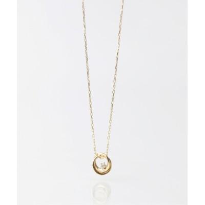 KU-CROISSANT / 【anq.】K10・ダイヤモンドネックレス WOMEN アクセサリー > ネックレス