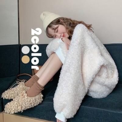 パーカー ムートンコート レデイース コート 冬 韓国風 40代 コート オシャレ アウター きれいめ 防寒 裏起毛 ゆったり 厚手 暖かい フワフワ 2色