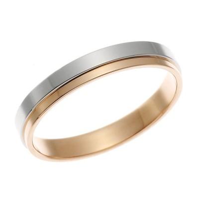 Pt900 プラチナ・K18ピンクゴールドリング 指輪 ペアリング