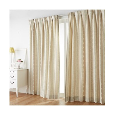 【1cm単位オーダー】立体的で繊細なレース柄カーテン(1枚) ドレープカーテン(遮光あり・なし) Curtains, blackout curtains, thermal curtains, Drape(ニッセン、nissen)