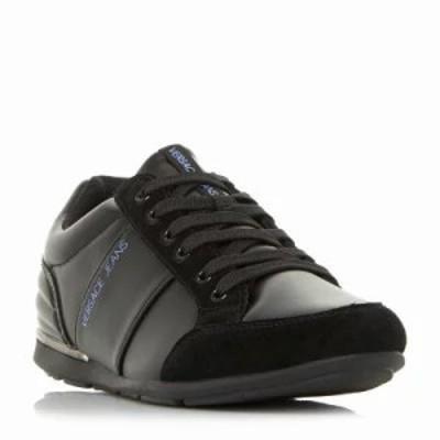 ヴェルサーチ スニーカー E0ysbsb2 Metal Heel Detail Trainers black