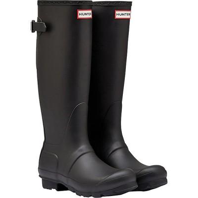 ハンター ブーツ&レインブーツ レディース シューズ Hunter Women's Original Back Adjustable Boot Black
