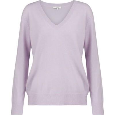 ヴィンス Vince レディース ニット・セーター Vネック トップス v-neck cashmere sweater French Lilac