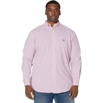 ラルフ ローレン Polo Ralph Lauren Big & Tall メンズ シャツ 大きいサイズ トップス Big & Tall Classic Fit Twill Performance Shirt Pink/White