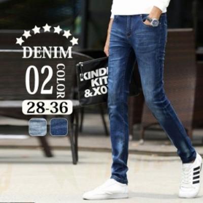 ジーンズ メンズ スキニー ジーパン ズボン 大きいサイズ ストレッチ男 デニムストレートシリーズジーパンカジュアル 春夏 ダメージ加工