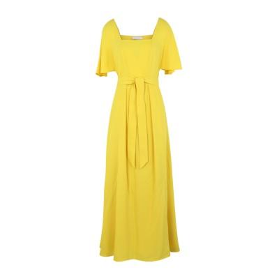 カルバン クライン CALVIN KLEIN ロングワンピース&ドレス イエロー 34 ポリエステル 100% ロングワンピース&ドレス