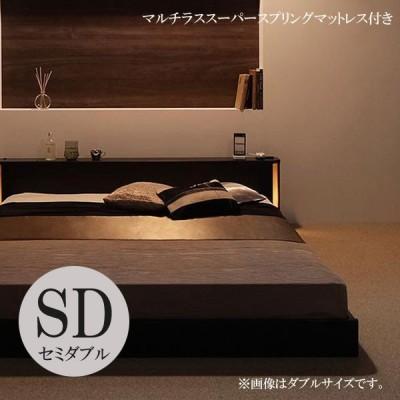 セミダブルベッド マットレス付き ベッドマットレスセット ローベッド セミダブル すのこベッド スノコベッド 格安 激安 安い スーパースプリング 040101483