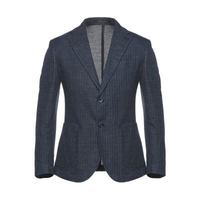 EXIBIT テーラードジャケット ダークブルー 54 コットン 67% / 麻 27% / ポリエステル 6% テーラードジャケット