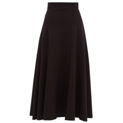ノーマ カマリ Norma Kamali レディース ひざ丈スカート スカート Grace panelled stretch-jersey midi skirt Black