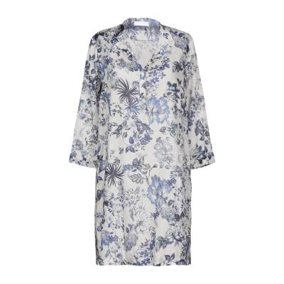 OZ10 ミニワンピース&ドレス ブルー 42 コットン 100% ミニワンピース&ドレス