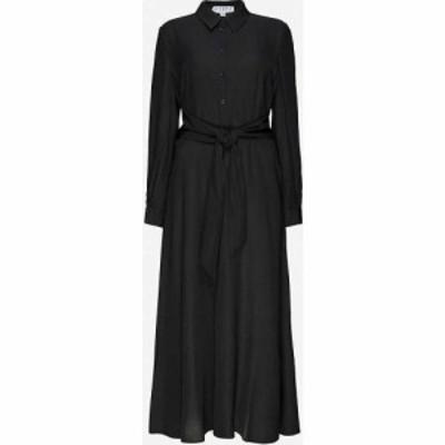 クローディ ピエルロ CLAUDIE PIERLOT レディース ワンピース ミドル丈 ワンピース・ドレス Respecte woven midi dress BLACK
