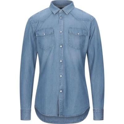 メッサジェリエ MESSAGERIE メンズ シャツ デニム トップス Denim Shirt Blue