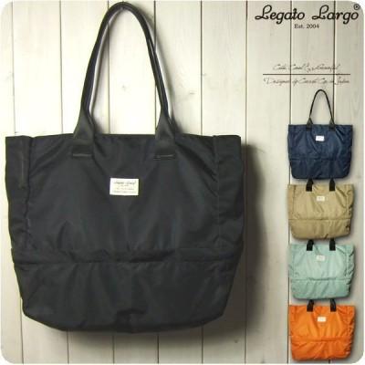 Legato Largo レガートラルゴ ショルダーバッグ レディース 撥水高密度ナイロン調ポリ 2層 2WAYトートバッグ