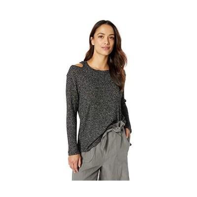 Democracy Women's Long Sleeve One Shoulder Cut Out Assymetric Hem Sweater,