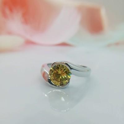 大きいサイズリング,a9246、サイズ22号、優し煌めき、貴重感、トレンド、黄色ダイヤモンド型、大きい石でキラキラ、