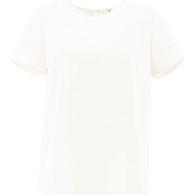 パロッシュ P.A.R.O.S.H. レディース Tシャツ トップス T-Shirt With Slit White