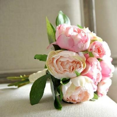 WEDDINGLAND フレンチローズ ピンク ブーケ 結婚式 二次会 ウエディング ブライダル 造花の ブーケ クラッチ インテリア ウェディング アイテム グッズ